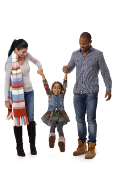 Multiracial couple with daughter